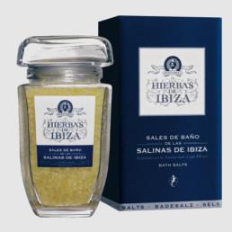 Sales de baño naturales de las salinas de Ibiza de la marca Hierbas de Ibiza perfumes